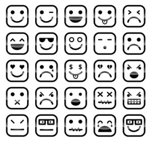 Emotions via emoticons